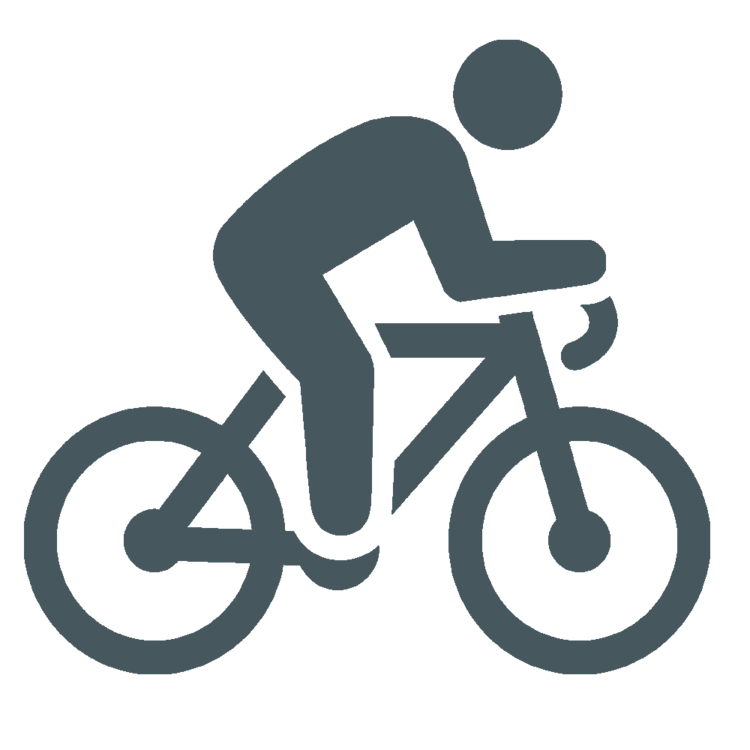 Person on a bicycle
