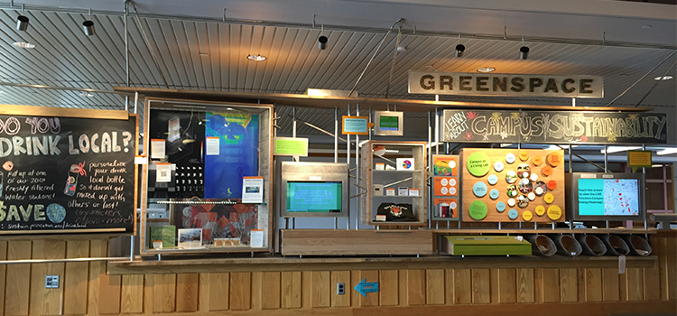 The Green Space exhibit